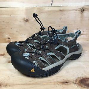 Keen Sandals Brown Blue Size 5.5